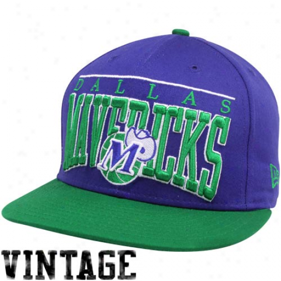 New Era Dallas Mavericks Royal Blue 9fifty Vintage Le Arch Snapback Adjustable Hat