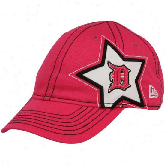 New Era Detroit Tigers Toddler Girls Pink Sidestar Adjustable Hat