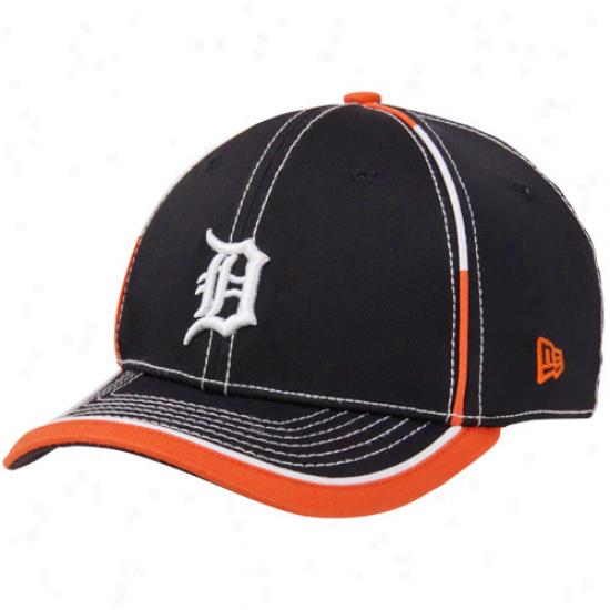 New Era Detroit Tigers Youth Taktodd Flex Hat - Navy Blue