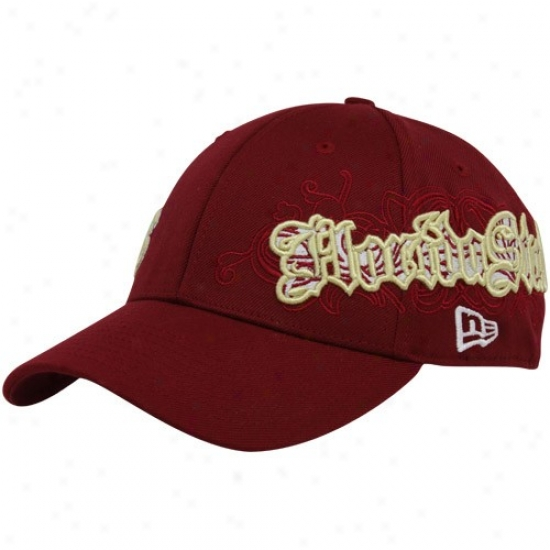 New Era Florida State Seminoles (fsu) Garnet Sweeper 39thirty Stretch Fit Hat