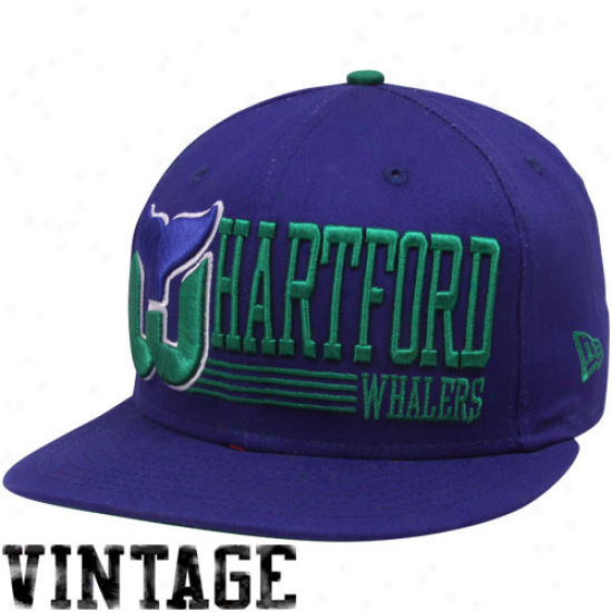 New Era Hartford Whalers Royal Blue Retro Look 9fifty Snapback Adjustable Hat