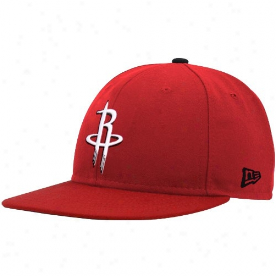 New Era Houston Rocckets Red Logo 59fifty Fitted Hat