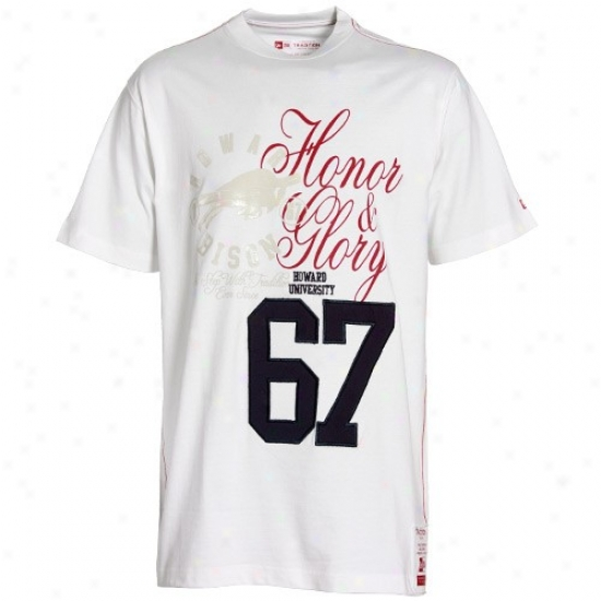 New Era Howard Bison White Honor Number Prmeium T-shirt