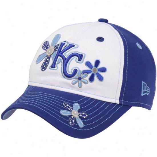 New Era Kansas City Royals Youth Girls Dzisy Dots Hat - Royal Blue-white