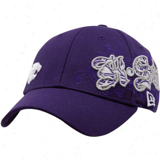 New Era Kansas State Wildcats Purple Sweeper 39thirty Stretch Fit Hat