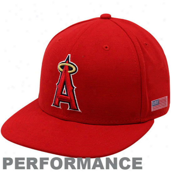 New Era Los Angeles Angels Of Anaheim Red On-field 59fifty Usa Flag Fitted Accomplishment Hat