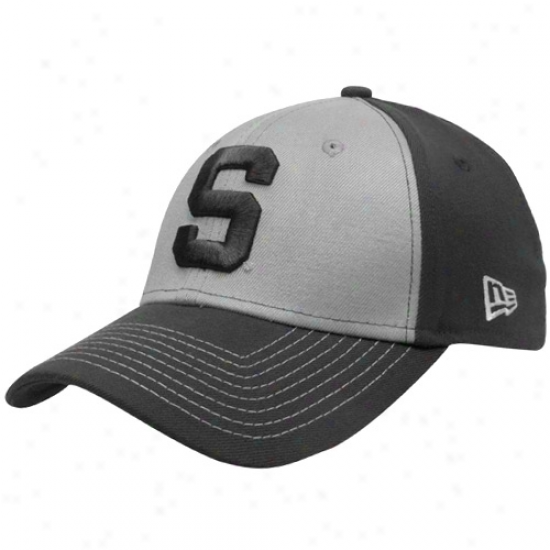New Era Michigan State Spartans Gray Two-tone Platinum Classic 39thirty Flex Hat