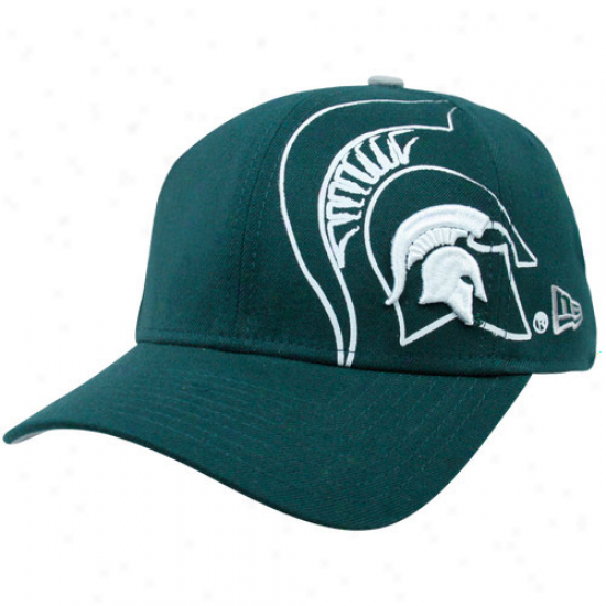New Era Michigan State Spartans Green 39thirty Faded Flex Hat
