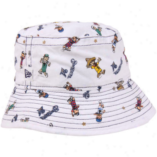 New Era Milwaukee Brewers Infant Bucket Hat - White