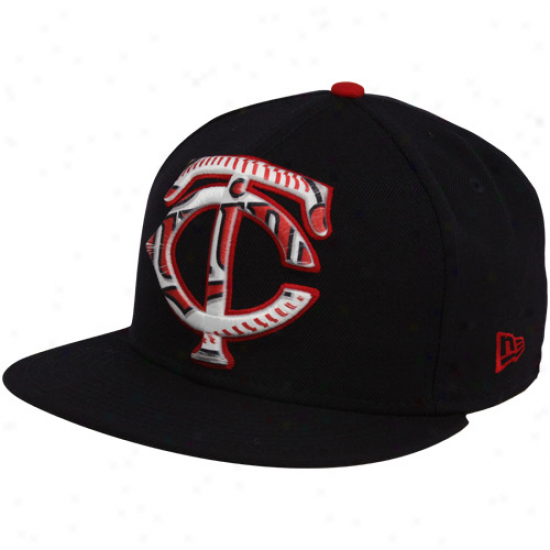 New Era Minnesota Twins Navy Blue Bois 59fifty Fitted Hat