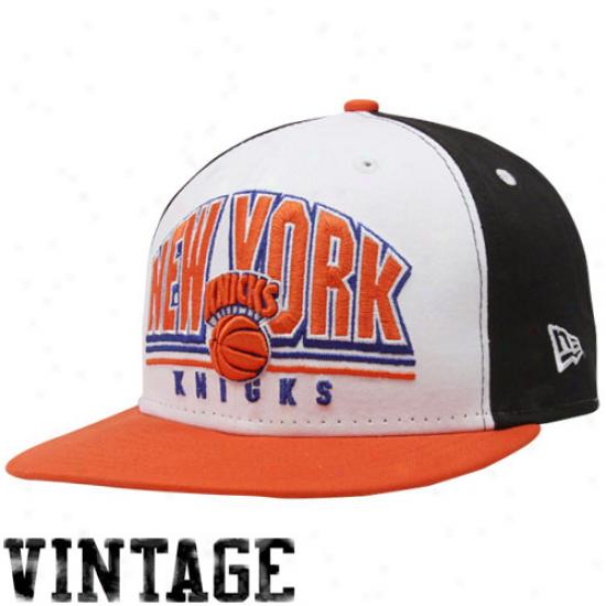New Era New York Khicks Black-white Hardwood Classics Monolith 9fifty Snapback Adjustable Hat