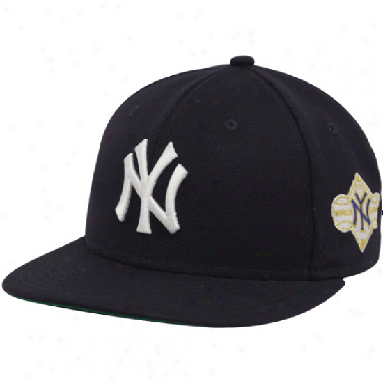 New Era New York Yankees Ships Blue 1958 World Series 59fifty Fktted Hat
