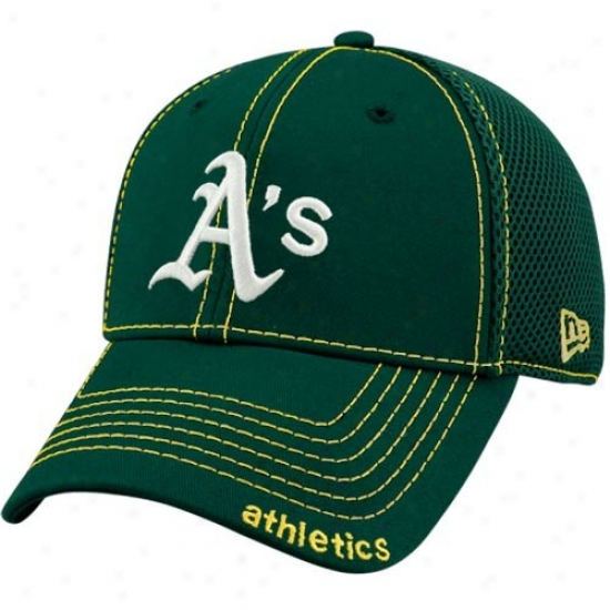 New Era Oakland Athletics Green Neo 39thirty Stretch Fit Hat