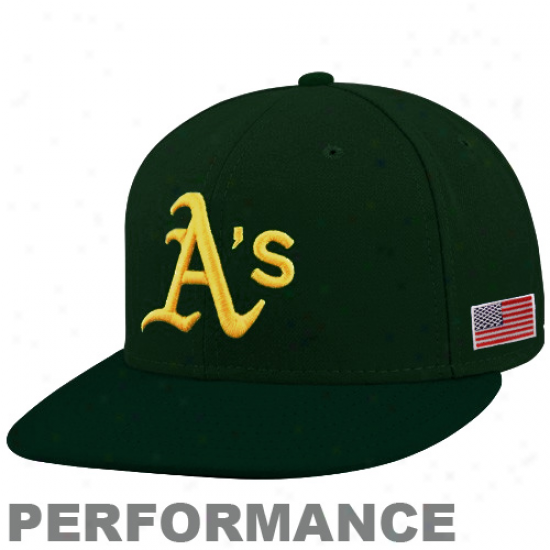 New Era Oakland Athletics Green On-field 59fifty Usa Flag Fitted Performance Hat