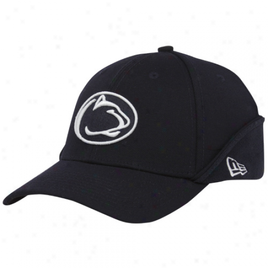 New Era Penn State Nittany Lions Navy Blue 39thirty Down Flap Stretch Fit Hat