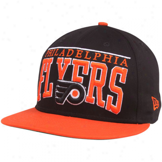 New Era Philadelphia Flyers Black 9fifty Le Arch Snapback Adjustable Hat