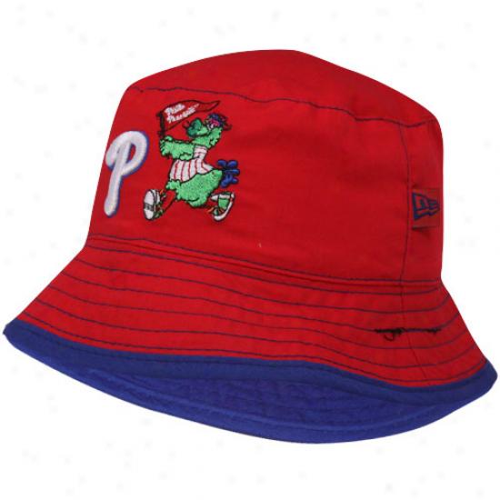 New Era Philadelphia Phillies Infant Red Teammate Bucket Hat