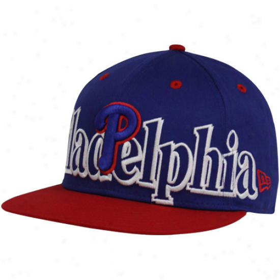 New Era Philadelphia Phillies Royal Blue-red Big City Punch 9fifty Snapback Adjustable Hat