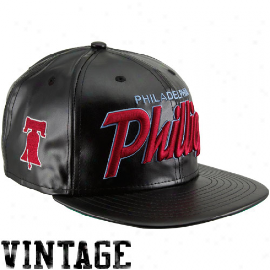 New Era Philadelphia Phillies Team Script Redux Snapback Hat - Black