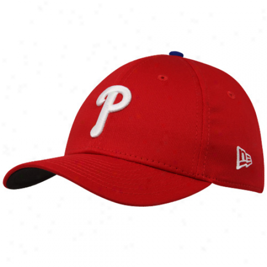 New Era Philadelphia Phillies oYuth Red Tie Breaker 39thirty Stretch Fit Hta