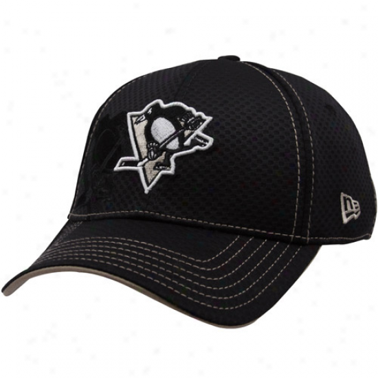 New Era Pittsburgh Penguihs Black 39thirty Stretch Fit Hat