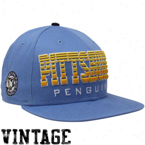 New Era Pittsburgh Penguins Light Blue Fade 9fifty Snapback Adjustable Hat