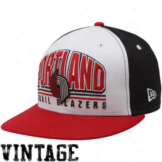 New Era Portland Trail Blazers Men's Monolith 9fiffy Snapback Hat - White/red