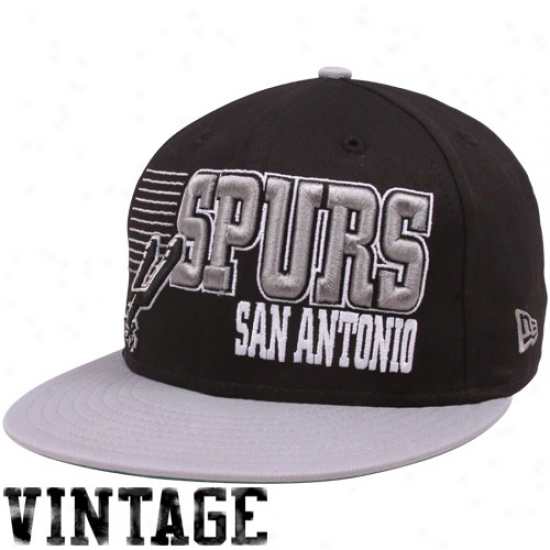 New Era San Antonio Spurs Black-silver 9fifty Borderline Snapback Adiustable Hat