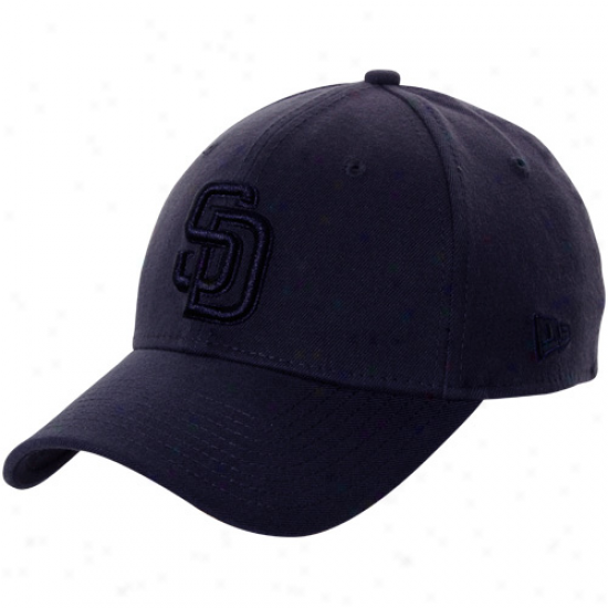 New Point of time San Diego Padres 39thi5ty Tonal Classic Flex Hat-  Navy Blue