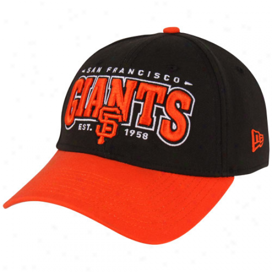 New Era San Francisco Giants 39thirty Retro Classic Flex Hat - Black/orange