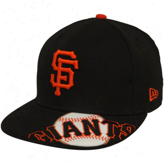 New Era San Francisco Giants Black Melviz 59fifty Fitted Hat