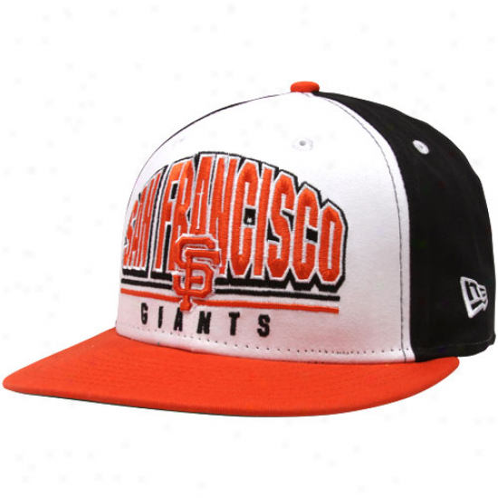 New Era San Francisco Giantts Black-white Monolith 9fifty Snapback Adjustable Cardinal's office