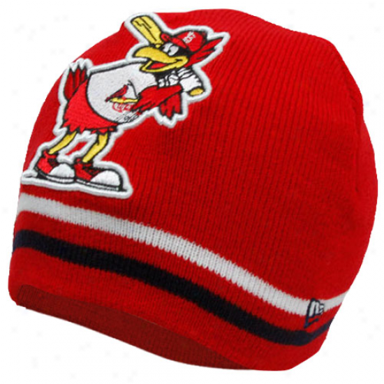 New Era St. Louis Cardinalx Cardimal Toddler Masfot Bff Knit Beanie