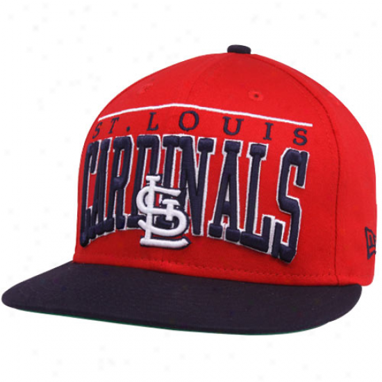 New Era St. Louis Cardinals Red 9fifty Le Arch Snapback Adjustable Hat