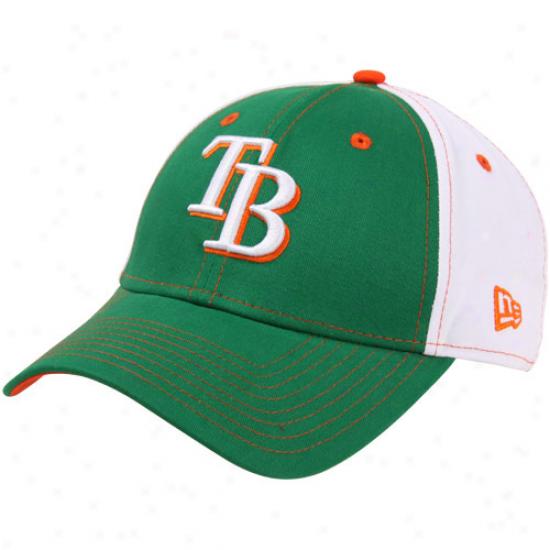 New Era Tampa Bay Rays St. Patrick's Day Tri-team Adjustable Hat -kelly Green-white