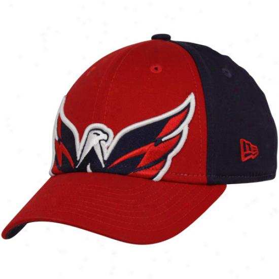 New E5a Washington Capitals Preschool Red-navy Blue Mascot Up Adjustable Hat