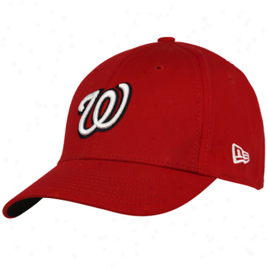 New Era Washington Nationals Youth Red Tie Breaker 39thirty Stretch Fit Hat