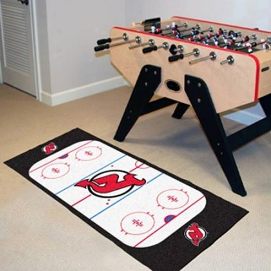 New Jersey Devils Hockey Runner Mat
