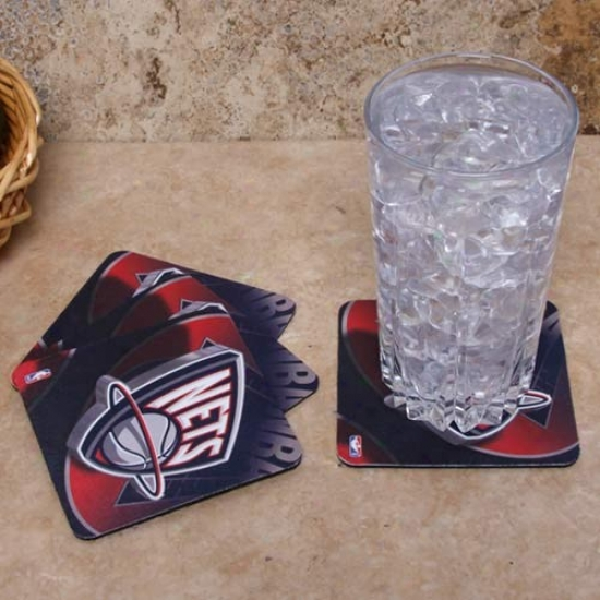 Just discovered Jersey Nets 4-pack Sublimated Logo Neoprene Coaster Set