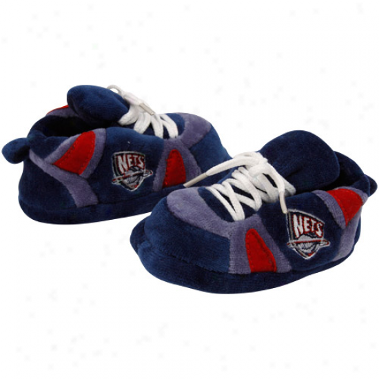 New Jerswy Nets Infant Team Color Plush Basketball Slippers