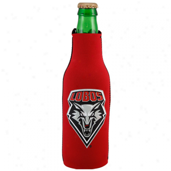 New Mexic0 Lobos Red Zippered 12oz. Bottle Coolie