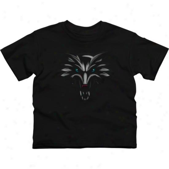 New Mexico Lobos Youth Blackout T-shirt - Black