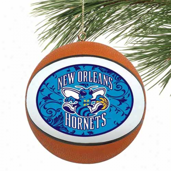 New Orleans Hornets Filigree Mini Replia Basketball Ornament