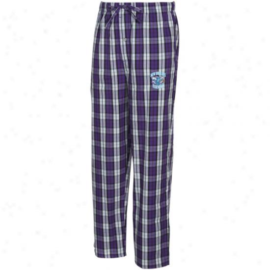 New Orleans Hornets Purple Plaid Historic Pajama Pants