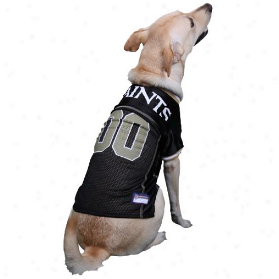 New Orleans Saints Black Mesh Pet Football Jersey