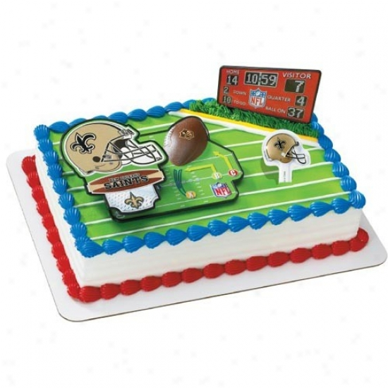 New Orleans Saints Cake Decorating Kit