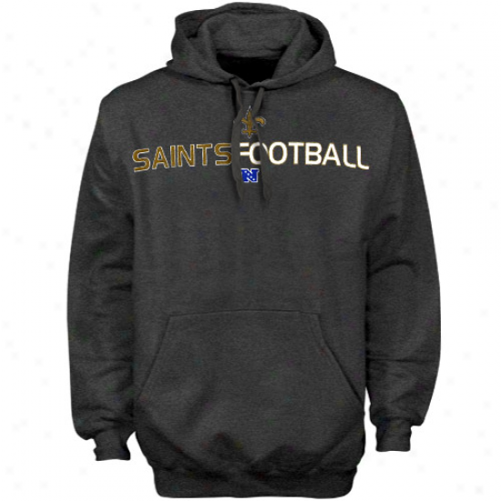 Starting a~ Oreans Saints Charcoal 1st And Goao Iii Hoody Sweatshirt