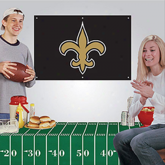 New Orleans Saints Fan Banner & Tablecloth 2-piece Foot6all Party Kid