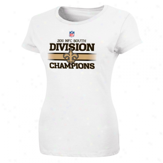 New Orleans Saints Ladies 2011 Nfc South Divosion Champions Locker Room T-shirt - White