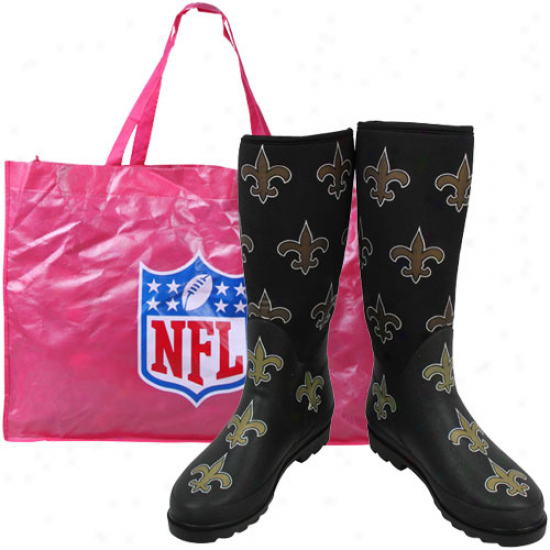 New Orleans Saints Ladies Black Enthusiast Boots